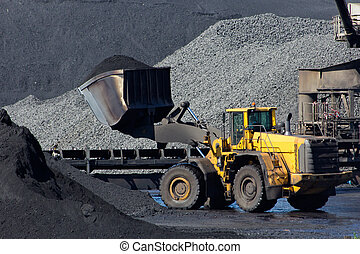 Shovel coal - Shovel moving coal