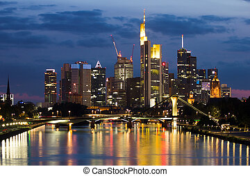 Frankfurt Skyline - Skyline of Frankfurt am Main, Germany