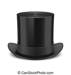 Top Hat illustration - Black Top Hat illustration isolated...