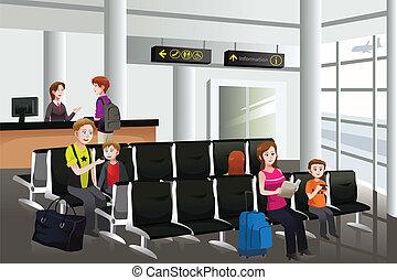 väntan, flygplats