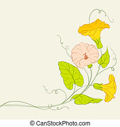 Bindweed frame for your text. Vector illustration.