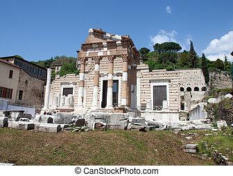 Capitolium, Brescia, Italy - Roman amphitheatre in Brescia,...