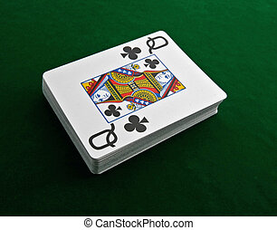 cards - a deck of cards on green felt