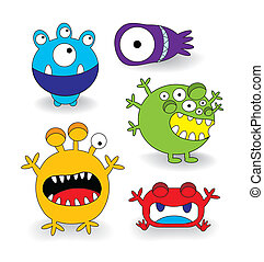 Cute Monster Collection Set - Cute Colorful Monster...