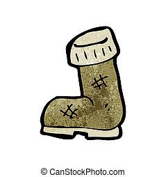 cartoon old boot