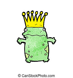 cartoon frog prince