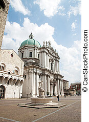 Brescia cathedral, Italy - The cathedral of Brescia, in the...