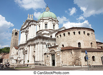 Brescia Cathedral - The cathedral of Brescia, in the north...