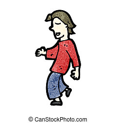 cartoon walking boy