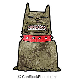 cartoon angry dog