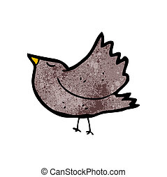 cartoon blackbird