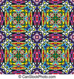 Modern Mexican textile design - Seamless vector pattern...