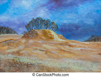 Painting of a hill