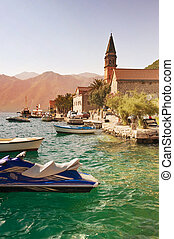 Perast - Montenegro evening in the ancient town of Perast