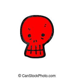 red skull cartoon symbol