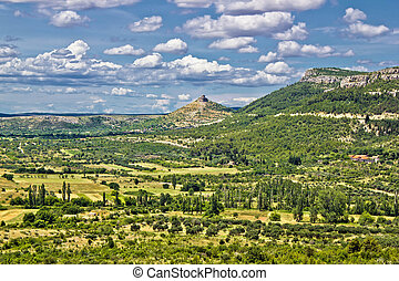 Landscape of Bribir area in Croatia