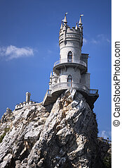 Swallow's nest. Ukraine. Gaspra. South shore of Crimea.