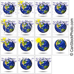 3D Earth Planet for weather report - 3D Earth Planet for...