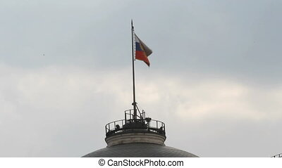 Russian Federation Flag Over Kremlin, Moscow, Russia
