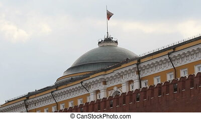 Russian Federation Flag Over Kremlin