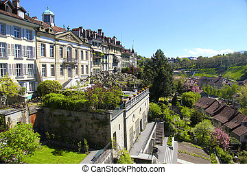 Berne(Switzerland) - Beautiful cityscape of the old town of...
