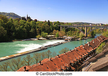 Cityscape, Berna, Aare, river(Switzerland)