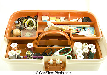 Sewing box - The concept of sewing and embroidery is...