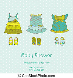 Baby Shower Card with Snail - with place for your text - in...