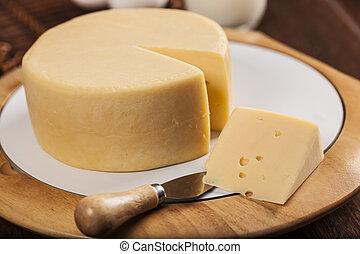 fatia, queijo