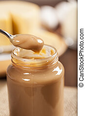 Dulce de leche,Doce de leite a sweet made from milk, made in...