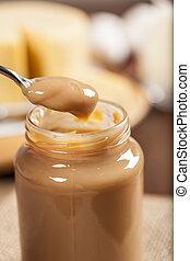 Dulce de leche,(Doce de leite) a sweet made ??from milk,...