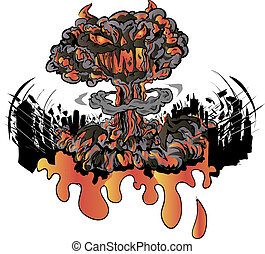 nuclear explosion - Drawing of nuclear explosion