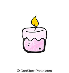 cartoon scented candle