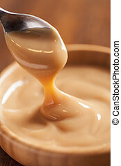 Dulce de leche,(Doce de leite) a sweet made ??from milk,...