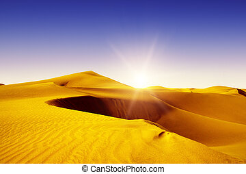 Maspalomas, Resort Town, Gold desert. - Gold desert into the...