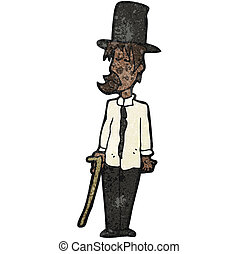 cartoon untidy gentleman