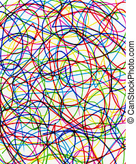 Colorful scribbles. - Abstract colorful felt tip pen...