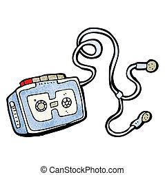 personal cassette player cartoon