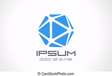 Logo crystal abstract. Jewelry concept. Vector. Editable. -...