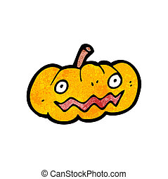 cartoon jack o lantern