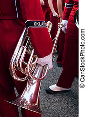 Oklahoma horn - A member of the Oklahoma marching band
