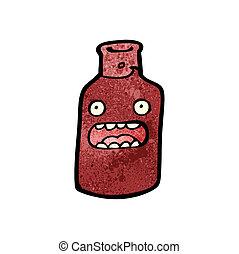 cartoon red wine bottle
