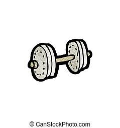 cartoon dumbell