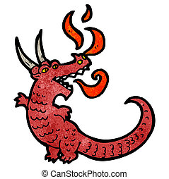 cartoon fire breathing dragon