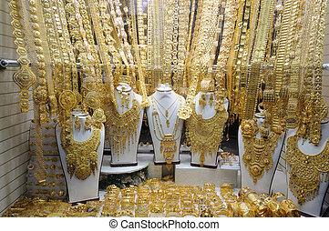 Dubai\\\'s Gold Souk - Jewelry at Dubai\\\'s Gold Souq