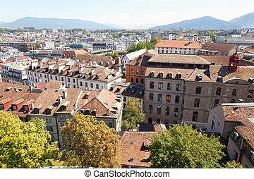 The city of Geneva in Switzerland