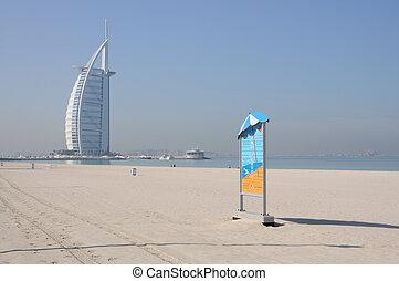 Jumeirah Beach and Burj Al Arab in Dubai