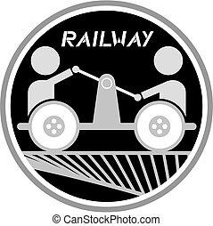 Railway icon - Creative design of railway icon
