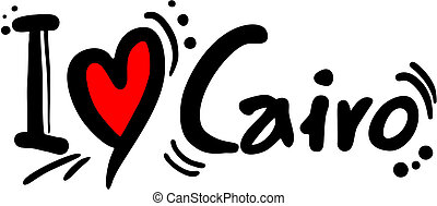 Cairo love - Creative design of Cairo love message