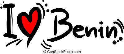 Benin love - Creative design of Benin love message